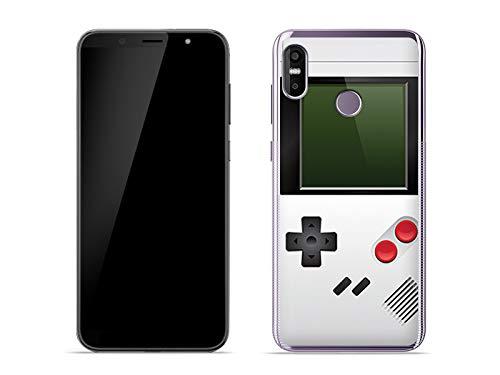 etuo Handyhülle für HTC U12 Life - Hülle Fantastic Case - Weißes Game Boy - Handyhülle Schutzhülle Etui Case Cover Tasche für Handy