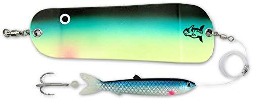 Rhino Premium Flasher mit Soft Finny Meeres Angel Zubehör Schleppangeln Norwegen Angeln, super Shiner, 20 cm