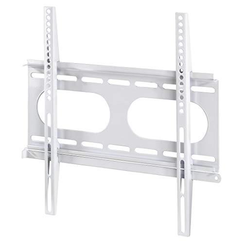 Hama TV-Wandhalterung (für Fernseher von 32 bis 56 Zoll (81 cm bis 142 cm Bildschirmdiagonale), inkl. Fischer Dübel, VESA bis 400 x 400, Wandabstand nur 2,5 cm, max. 50 kg) weiß