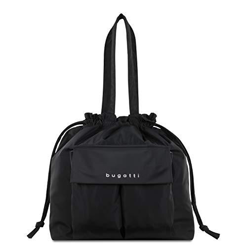 Bugatti Bona Shopper Damenhandtasche, Schultertasche für Damen - edle Tragetasche in Schwarz