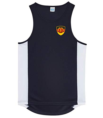 Nation DDR Deutsche Demokratische Republik Trikot Tank Top Athletic Sport Gym ATH BR-SC (L)