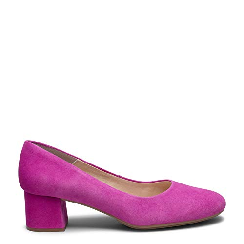 Zapatos miMaO. Zapatos de Piel Hechos en España. Urban Redondo. Zapatos de Tacón Bajo Piel. Zapato de Mujer Cómodo Plantilla Gota Ultra Confort Gel