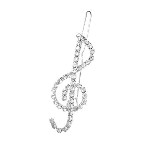 S-TROUBLE Frauen Elegante Klassische Musik Note Violinschlüssel Form Haarspangen Glitter Strass Decor Haarnadeln Schmuck Party Haarspangen