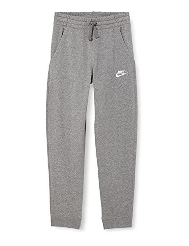 Nike Jungen Sportswear Club Fleece Sweatpants, Carbon Heather/White, M