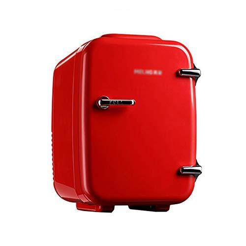 TITO Élégant Mini Réfrigérateur Cosmétique/Petit Réfrigérateur de Voiture Portable 4L Transition Muet, Chaud et Froid, 12V / 110 / 220V, Rouge (Red)