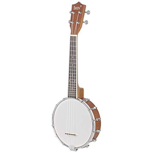 N\C Ukelele banjo de 23 pulgadas de caoba Sapele de nailon...