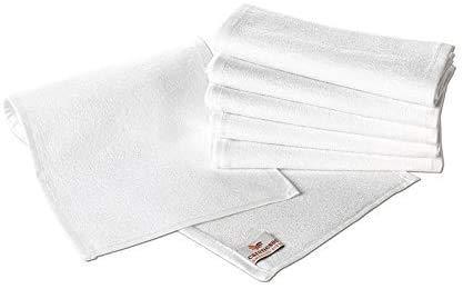Carenesse Rasiertuch 6er Pack, 22 x 70 cm, 100% Baumwolle, weiß, Handtuch für Rasur, Rasier-Handtuch, Rasurvorbereitung wie beim Barbier
