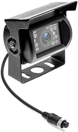 Caméra de recul Camecho Connecteur à 4 Broches Caméra étanche 12V 24V Vision Nocturne pour Voiture Bus Camion Caravane Camping-Car (Pas de Ligne de Distance)