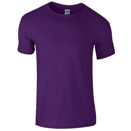 Gildan - Maglietta 100% Cotone Soft-Style - Uomo (M) (Viola)