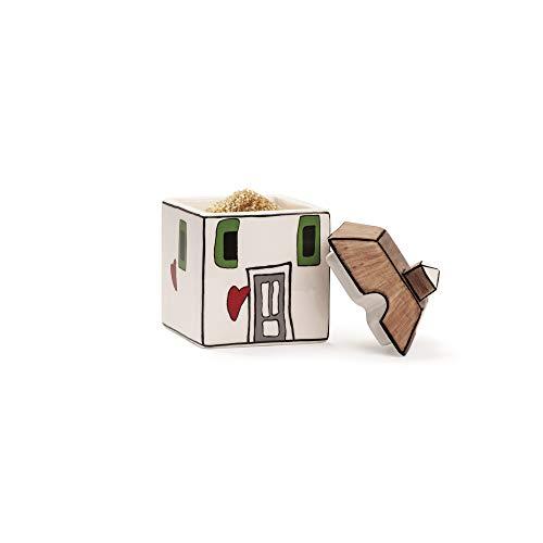 Egan Zuccheriera, Ceramica Smaltata, Avorio, Small