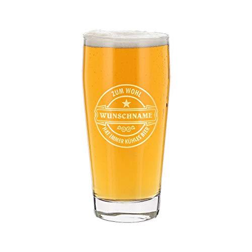 Herz & Heim® Bierglas mit Gravur - Zum Wohl - Hat Immer kühes Bier