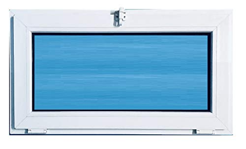 ECO-BLU (V11T) Fenêtre en PVC 800 x 500 mm rabattable (choc), blanc, 800 x 500 mm
