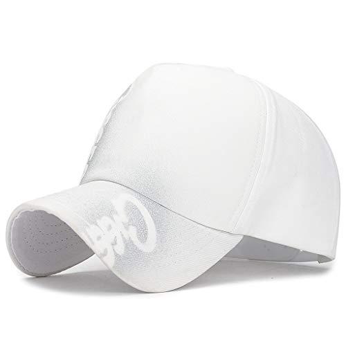DOLDOA Hut Damen Sommer,Art- und Weiseunisexmilitärart-Flache Kappen-Weinlese-Baseballmütze-Sport-Sonnenhut (Weiß)