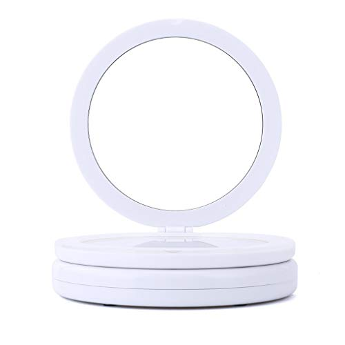LSXUE Portable Se Pliant de Miroir de loupe de beauté de beauté avec Le Miroir bilatéral de Miroir de Lampe de la Lampe LED