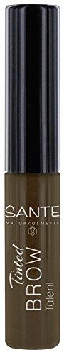 SANTE Naturkosmetik Tinted Brow Talent 02, Augenbrauenmascara für Brownies, Bringt Brauen in Form & füllt Lücken auf, Vegan, 2 x 3,5 ml Doppelpack
