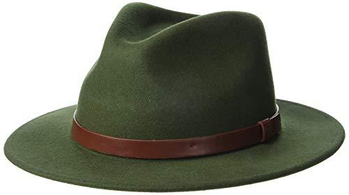 Brixton Messer Fedora Headwear, Moss, XL