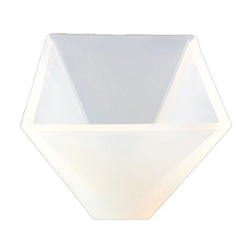 joyliveCY Pirámide Compatible Conma Molde de Silicona Resina de Cristal DIY Making Craft Herramienta