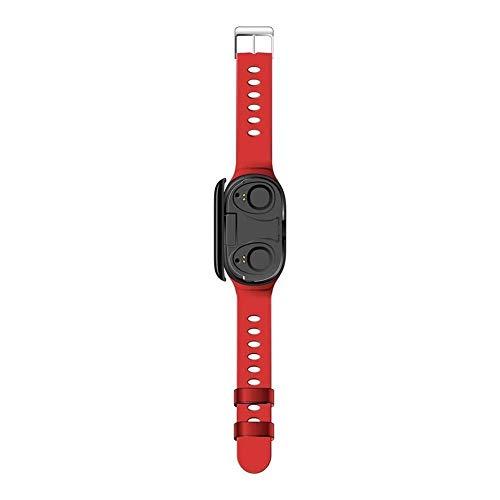 Smartwatch 2019 neueste M1 AI 3 In1 Smart Uhr mit integriertem TWS 5.0 drahtlosem Bluetooth-Kopfhörer-Armband mit Blut-Herzfrequenzmesser, Sport-Schlaf-Monitor, Langzeit-Standby for iOS Android Mode t