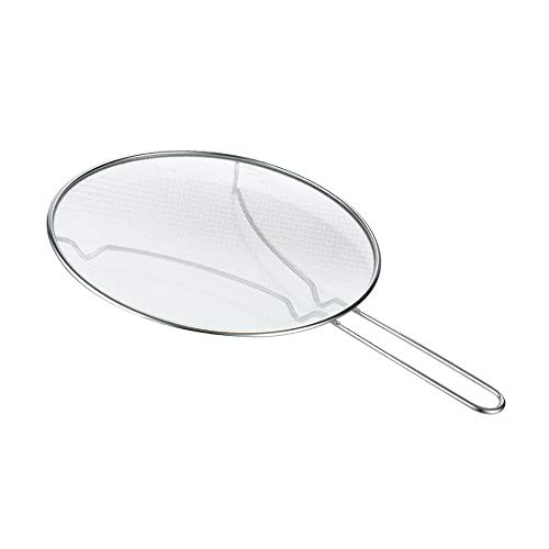 """13"""" Splatter Screen with Resting Feet Stainless Steel Fine Mesh Heavy Duty Splatter Guard for Frying Pan Grease Guard Shield and Catcher Cooking Safety Corrosion Resistant Suitable For Straining"""