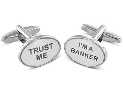 Boutons de manchette TEROON Confiez moi - je suis un banquier