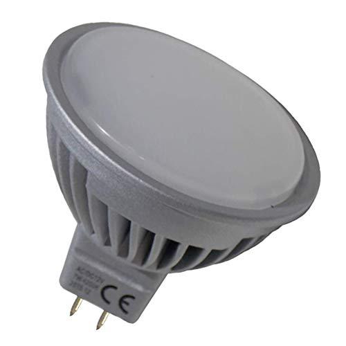 Pack 10x MR16 a 12/24V. 7w. Regulable. Color Blanco Calido (3000K). 600 Lumenes. (Transformador 12/24v NO incluido).