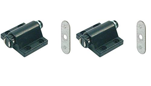 Magnetic Pressure Push to Open Touch Latch Kitchen Cabinet Doors Catches + Plate x2