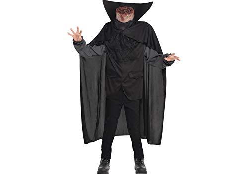 amscan 845680-55 Kind Kopflos Reiter Halloween Kinder Kostüm Alter 12-14 Jahre Unisex Kinder Mehrfarbig