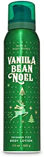 Bath and Body Works VANILLA BEAN NOEL Shimmer Fizz Body Lotion 3.5 Ounce (2019 Edition)