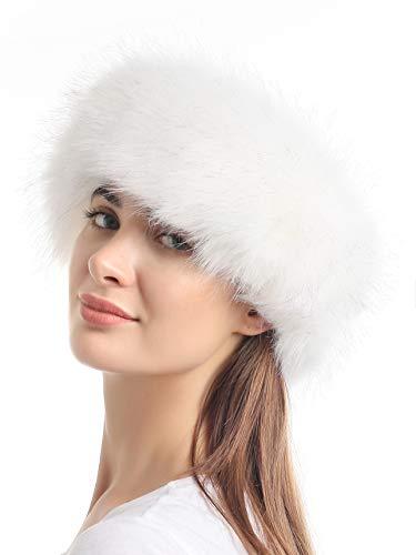 soul young Damen Faux-Pelz-Stirnband mit Gummizug für Winter-Earwarmer Earmuff Einheitsgröße Weiß Mit Tipps