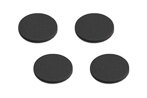 Metafranc Anti-Rutsch-Pads Ø 40 mm - selbstklebend - schwarz - 4 Stück - Stoßdämpfend - Rutschhemmend für Möbel & Gegenstände / EVA-Pads im Set / Gummi-Pads / Anti-Rutsch-Puffer / 646066