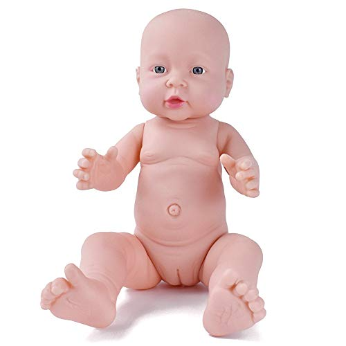 HiPlay Realistic Baby Doll Lifelike Vinyl Naked Boys/Girls Newborn Baby Dolls for Kids Toys/Nursing Practice/Teaching/Photography - Size & Gender Selectable (16 inch Girl)