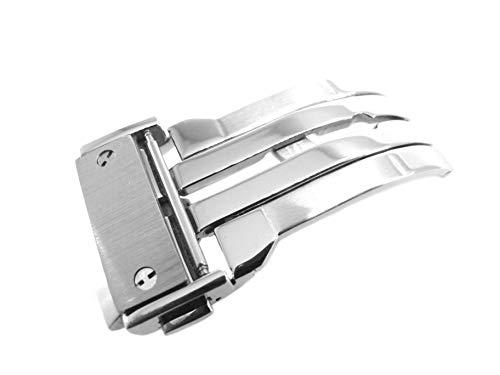 JRRS7777 Edelstahl Schmetterling 22 mm Uhrenarmband Deployment Silber Schnalle Armband Parts Fit Hublot