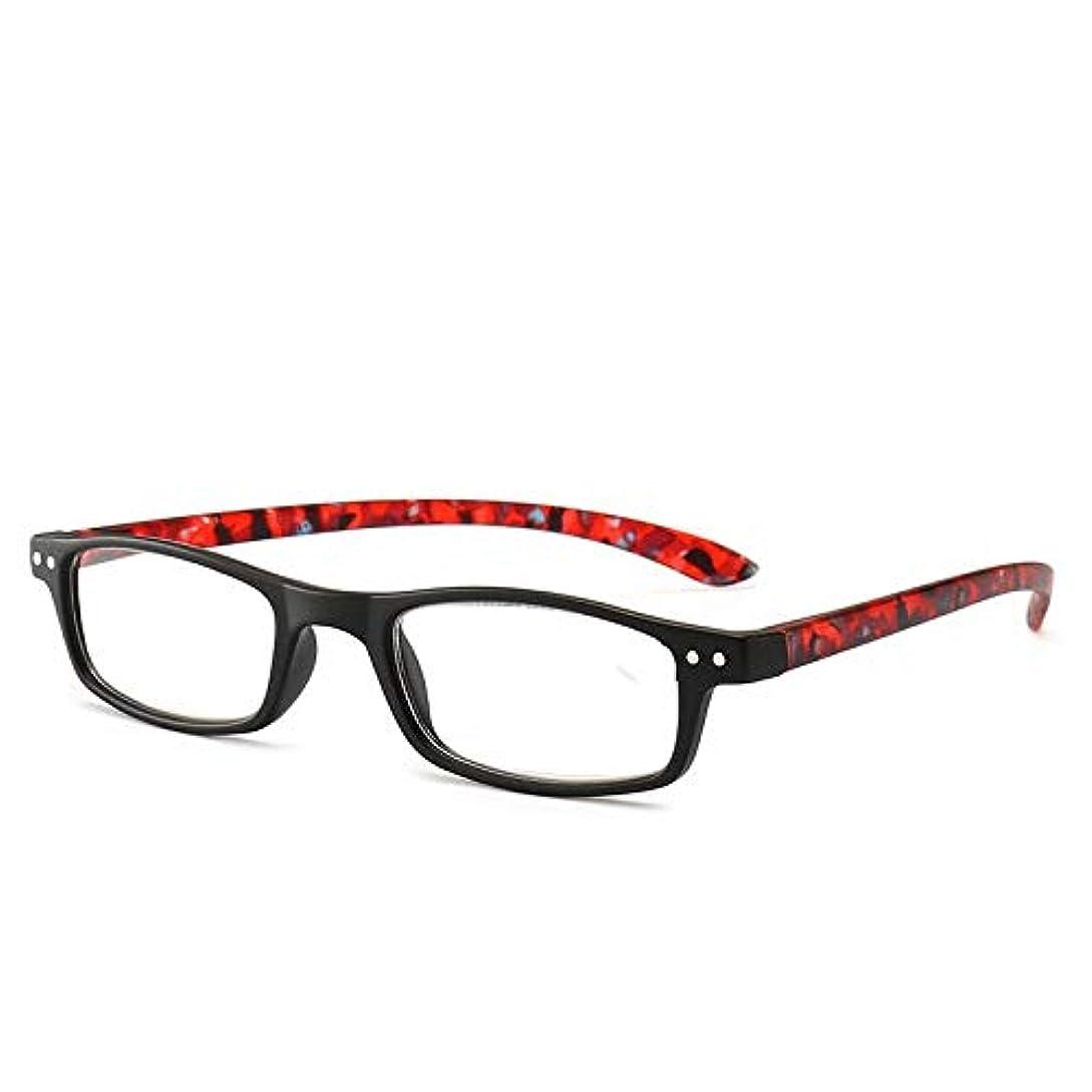 派生するテザー要件T128老眼鏡ジオプター+1.0?+4.0女性男性フルフレームラウンドレンズ老視メガネ超軽量抗疲労-赤400