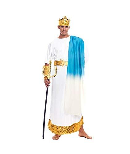 Disfraz Dios Griego Neptuno Adulto Hombre Romano Poseidón【Tallas S a L】[Talla L] Toga Corona Laurel Brazaletes | Disfraces Carnaval Históricos Antigua Grecia Roma para Adultos