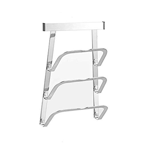 WZHZJ Soporte para tapa de olla para rack, herramienta para colgar en la pared, espacio, accesorios de cocina de aluminio, herramienta para olla, cubierta para sartén, soporte para cubierta, soporte d