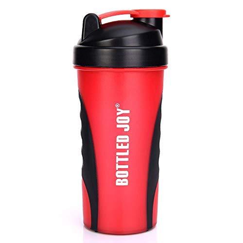 BOTTLED JOY Botella mezcladora de proteínas, 800 ml, con Bola mezcladora, de plástico sin BPA, para Deportes de Fitness, Deportes y Viajes, con Mezcla Antideslizante, 800 ml
