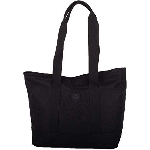 Damen-Einkaufstasche, weich, Jacquard, gemustert, Schwarz - Schwarz - Größe: Einheitsgröße