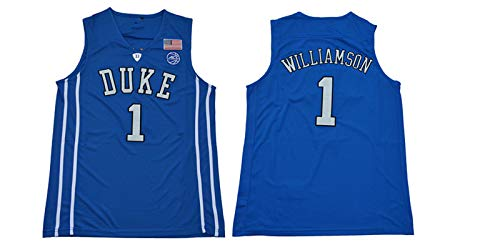GXHUI Camiseta de Baloncesto para Hombre de la NBA Zion Williamson Duke University Chalecos Bordados Tops Camisetas sin Mangas Chalecos Tops S-XXL