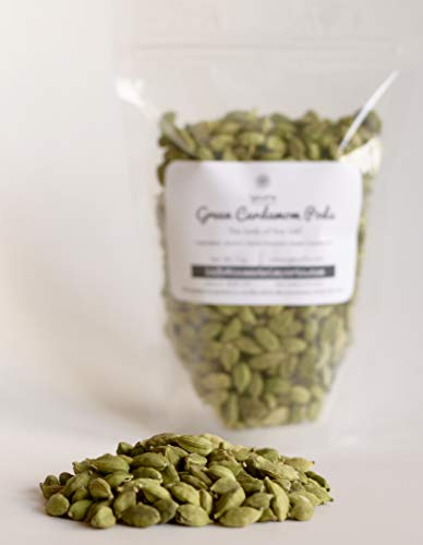 SpiceFix Green Cardamom Pods Whole, 7.0 oz / 200g | Extremely Fragrant | Hand Picked | Indian Idduki Variety | Pure | Resealable Bag | Perfect for Biryani Curries Desserts