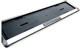 Black Edition Chrome European Number plate frame surround 52cm x 12.5cm