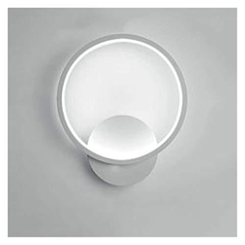 YZZ Lámpara de Pared LED Interior Lámpara de Pared en Blanco y Negro de Interior Mural Decoración para el hogar Interior Lámpara de Pared de Noche Moderna (Color : Round White, Size : White Light)