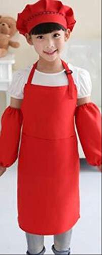 FHFF kookschort voor kinderen, keukenschort, kinderkok, schort, hoed, S, oranje