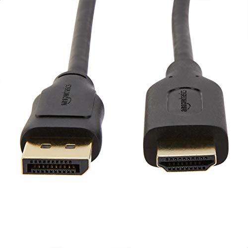 Amazon Basics Uni-Directional DisplayPort to HDMI Display Cable 4K@30Hz - 3 Feet