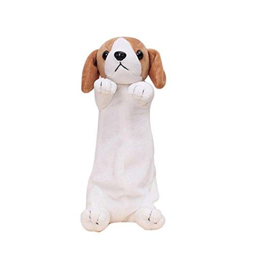 Sanwood® 3D Bleistifte Fall Plüsch Hund Süße Stifte Tasche Kosmetik Make-up Coin Geldbörse Einheitsgröße English Foxhound
