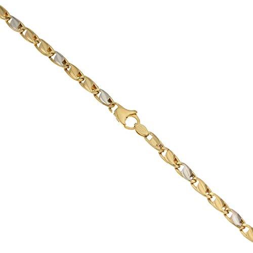 Bracciale Da Uomo In Oro 18k 750/1000 Modello A Riportini, Oro giallo e bianco