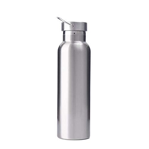 Sin BPA para Coche Fugas Taza,Botella de Deportes al Aire Libre, Taza de Acero Inoxidable-Silver_350ml,Taza Térmica de Agua Hogar Viaje Oficina Escuela