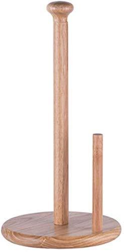 Dirgee Toalla de Cocina Toalla Toalla de Madera Tapa de Rodillo Tapa de Rollo Pipep Punch Soporte de Rollo Vertical Material de Madera (Color: B) (Color : A)