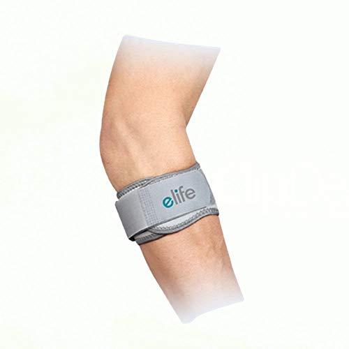 Elife Tennisarm Bandage | Unterarmbandage zur Schmerzlinderung der Sehnenansätze | stützt Ellenbogengelenk & Muskeln | bei Schmerzen + zur Vorbeugung | Links & rechts | Größe M