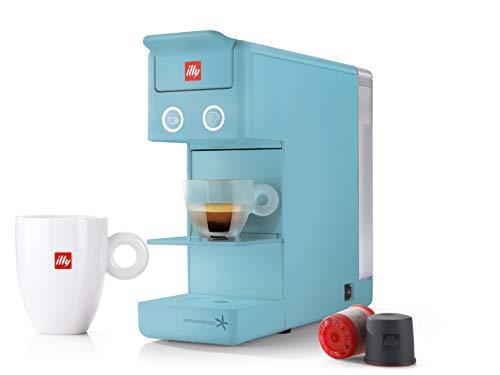 illy 60332 y3.2 Espresso and Coffee Machine, 12.20x3.9x10.40, Blue