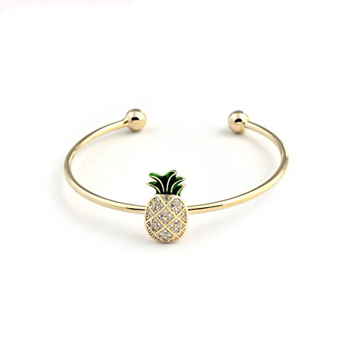 GAOQQ Ananas Armband Dame Offene Hand Ring Individualität Kreative Hand Ornamente (1 Stück)